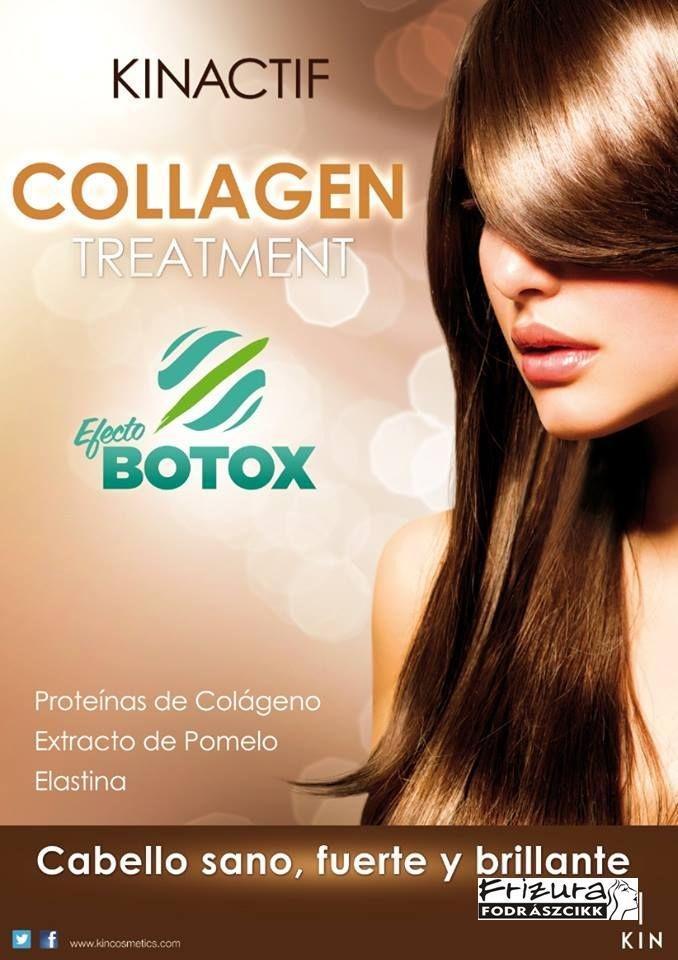 Haj botox Kin Hajápoló csomag kollagénes hajerősítő kezeléshez + ajándék hajkefe