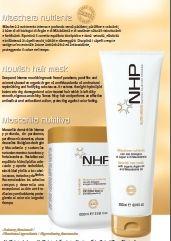 Pakolás argánolajjal száraz roncsolt hajra Vital NHP Nouris Hair Mask