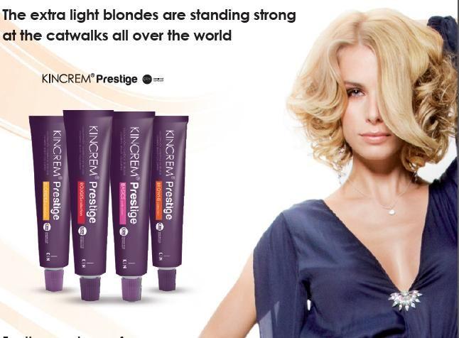 Ajándék hajszínskála Új Kincream Prestige hajfestékekhez