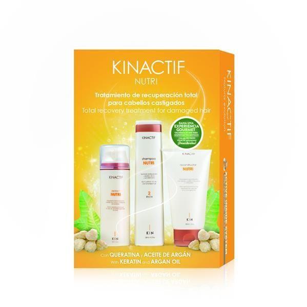 Hajápoló csomag roncsolt, száraz hajra Kinactif Nutri
