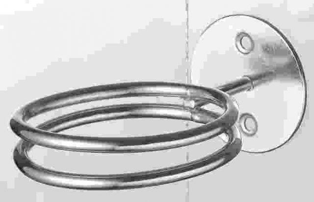 Hajszárító tartó dupla fémgyűrű