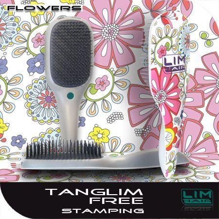 Hajkisimító és szuper hajbontó kefe Tanglim Exclusive Free-Flowers